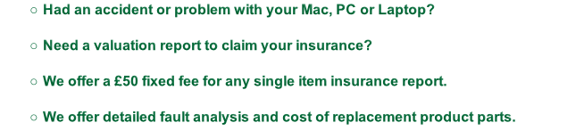 Had an accident or problem with your Mac, PC or Laptop?